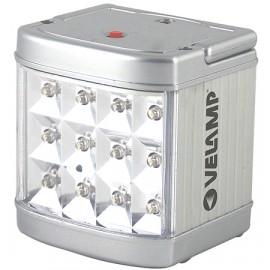 LAMPADA EMERGENZA METAL 12 LED
